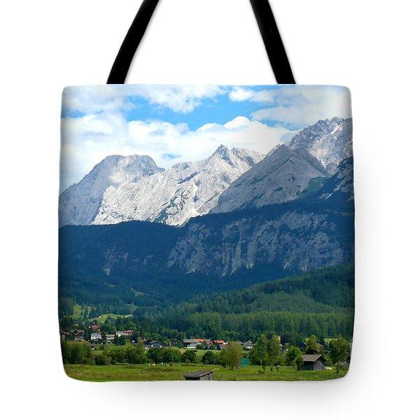 German Alps - Digital Painting Tote Bag by Carol Groenen
