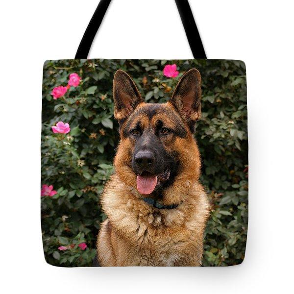 German Shepherd Dog Tote Bag by Sandy Keeton