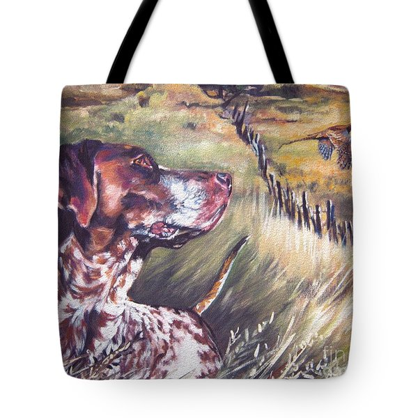 German Shorthaired Pointer And Pheasants Tote Bag by L A Shepard