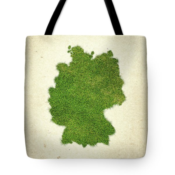 Germany Grass Map Tote Bag by Aged Pixel