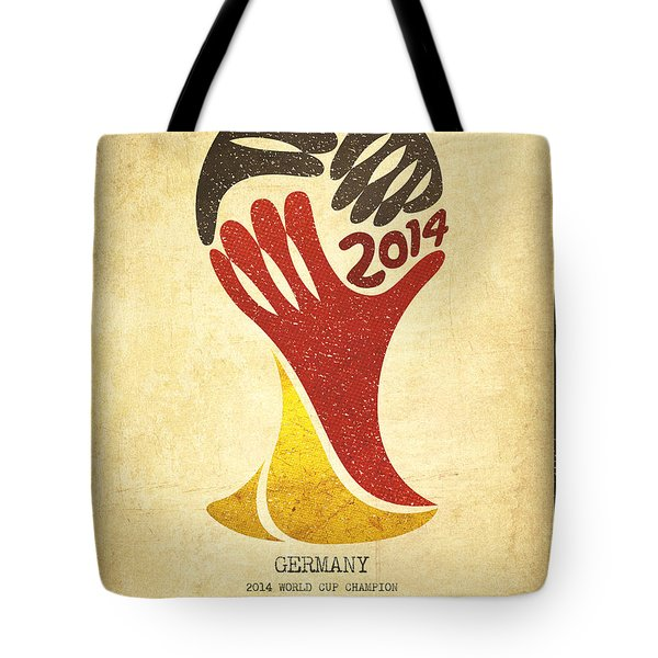 Germany World Cup Champion Tote Bag by Aged Pixel