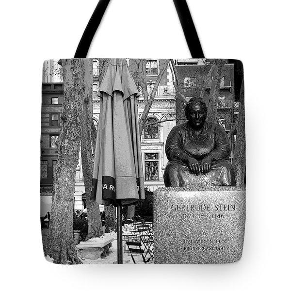 Gertrude Stein Tote Bag by Joanna Madloch
