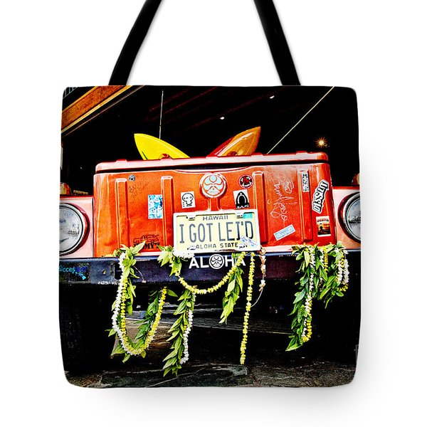 Get Lei'd Tote Bag by Scott Pellegrin