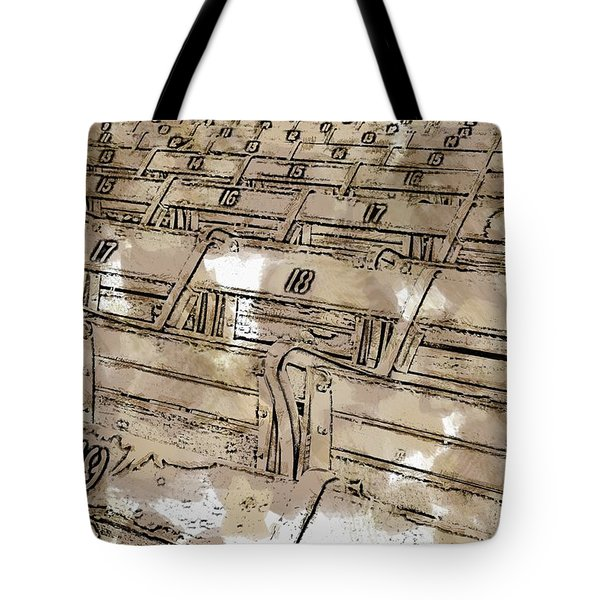 Get Your Seat Tote Bag by Alice Gipson