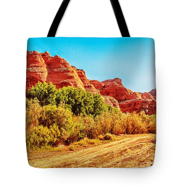 Getting The Sun In Canyon De Chelly Tote Bag by  Bob and Nadine Johnston