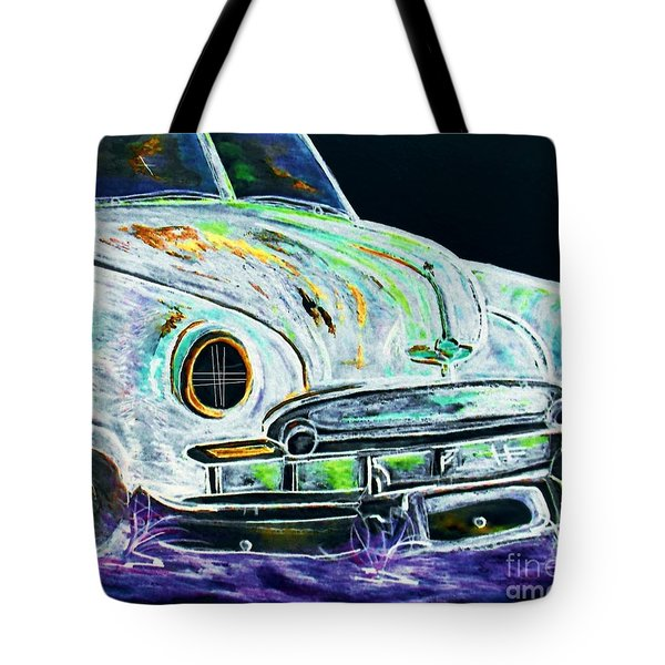 Ghost Car Tote Bag by Eloise Schneider