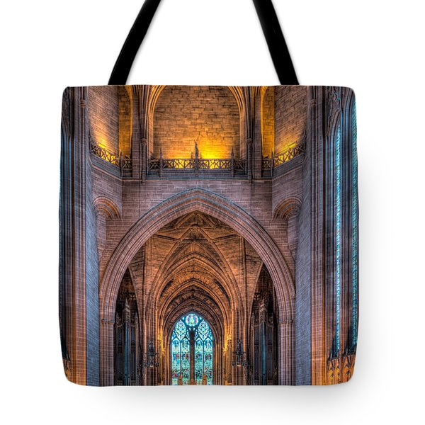 Ghost in the Cathedral Tote Bag by Adrian Evans