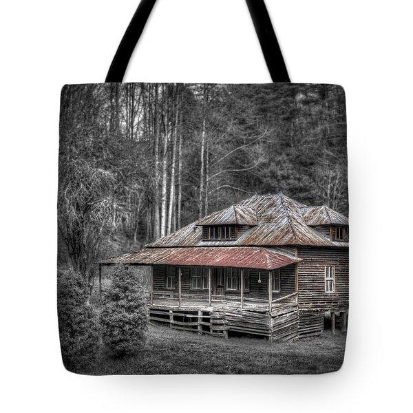 Ghost in the Window Tote Bag by Debra and Dave Vanderlaan