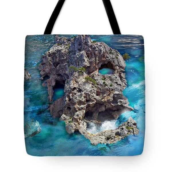 Ghost Rock Tote Bag by Johnny Trippick