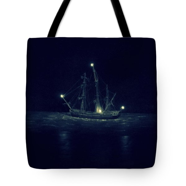 Ghost Ship Tote Bag by Laurie Perry