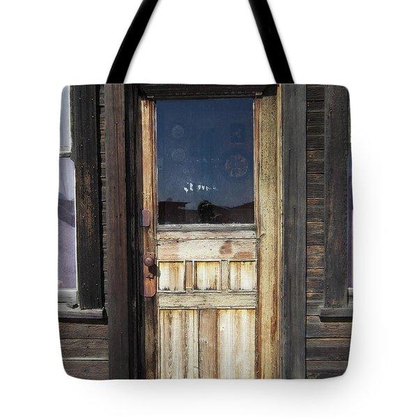 Ghost Town Handcrafted Door Tote Bag by Daniel Hagerman