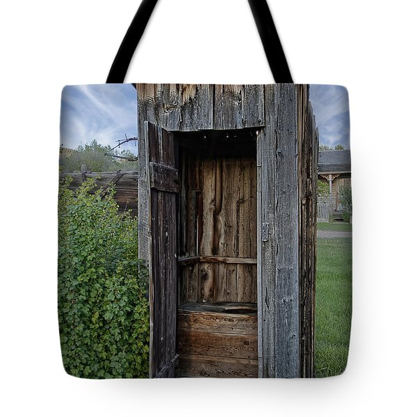 Ghost Town Outhouse - Montana Tote Bag by Daniel Hagerman