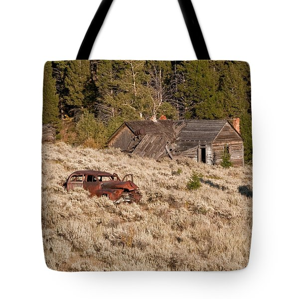 Ghost Town Remains Tote Bag by Sue Smith