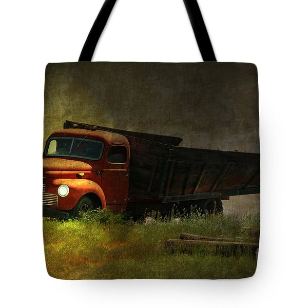 Ghost Truck Tote Bag by Vickie Emms