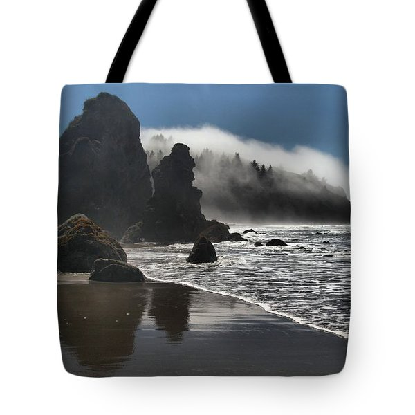 Giants On The Beach Tote Bag by Adam Jewell