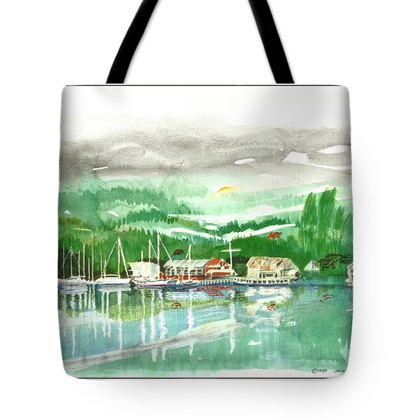 Gig Harbor Waterfront Tote Bag by Jack Pumphrey