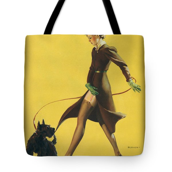 Gil Elvgren's Pin-up Girl Tote Bag by Underwood Archives
