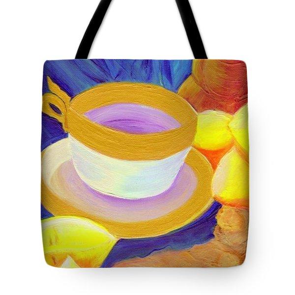 Ginger Lemon Tea By Jrr Tote Bag by First Star Art