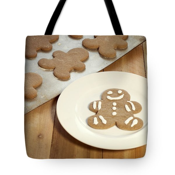 Gingerbread Cookies Tote Bag by Juli Scalzi