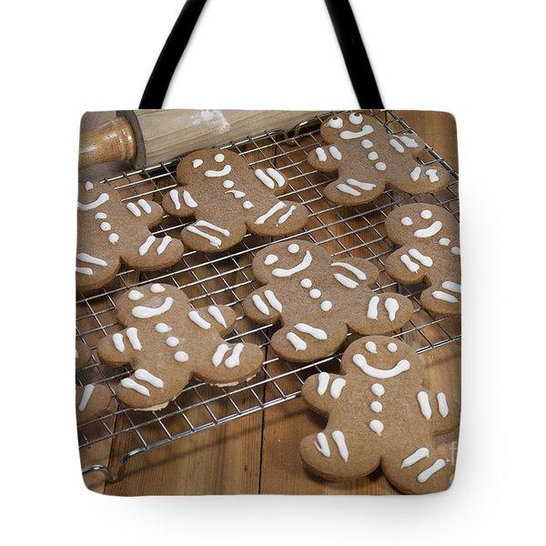Gingerbread Man Cookies Tote Bag by Juli Scalzi