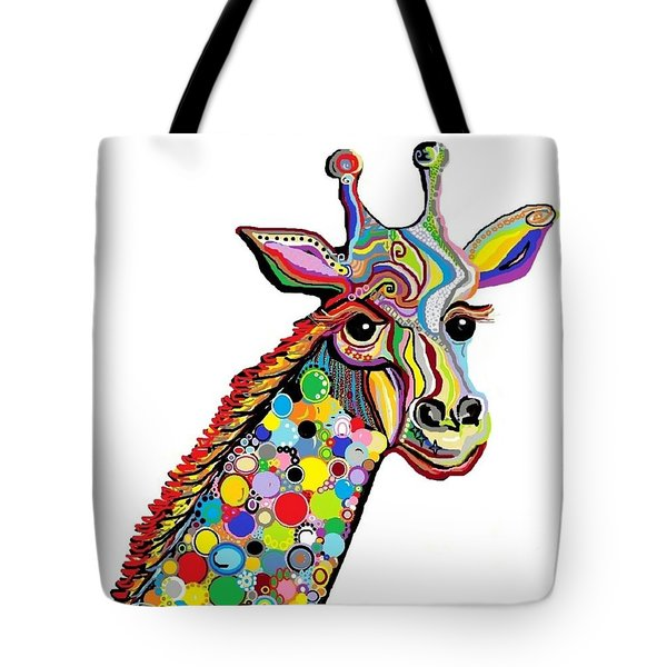 Giraffe Tote Bag by Eloise Schneider