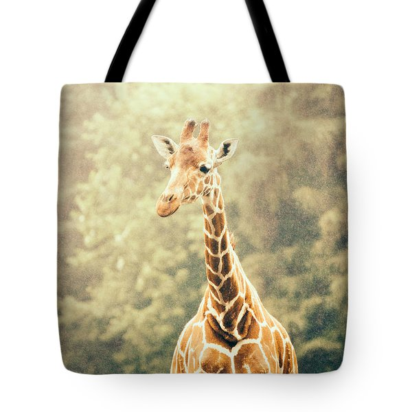 Giraffe In The Rain Tote Bag by Pati Photography