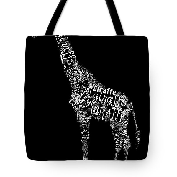 Giraffe is the Word Tote Bag by Heather Applegate