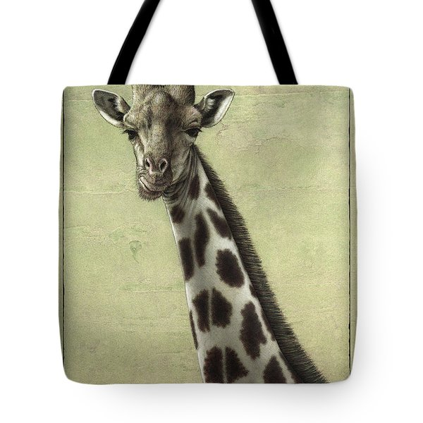 Giraffe Tote Bag by James W Johnson