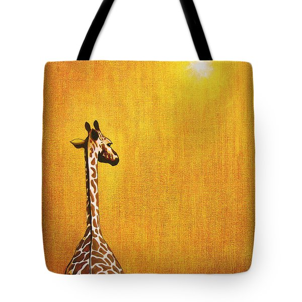 Giraffe Looking Back Tote Bag by Jerome Stumphauzer