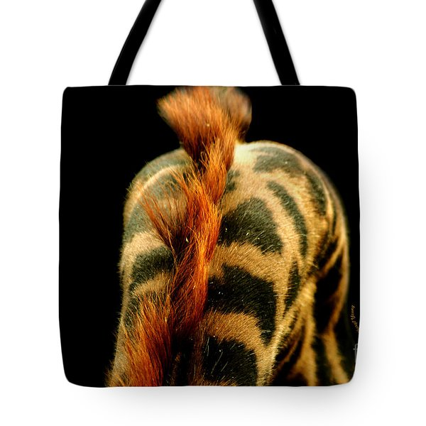Giraffe Patterns Tote Bag by Cheryl Young