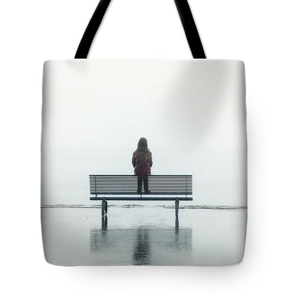 Girl On A Bench Tote Bag by Joana Kruse