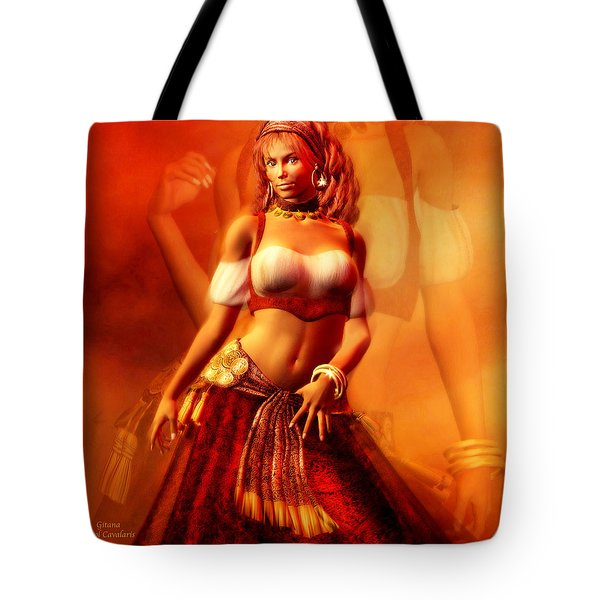 Gitana Tote Bag by Carol Cavalaris