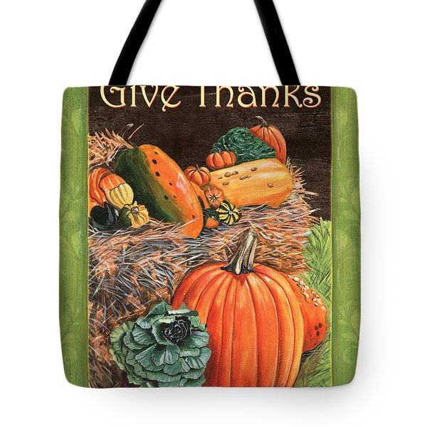 Give Thanks Tote Bag by Debbie DeWitt