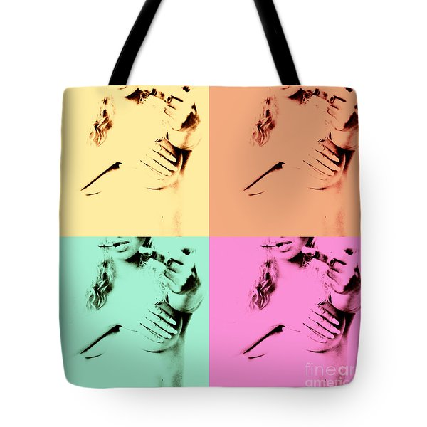 Giving You The Finger Tote Bag by Stelios Kleanthous