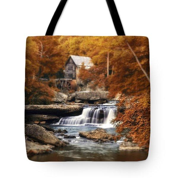 Glade Creek Mill Selective Focus Tote Bag by Tom Mc Nemar