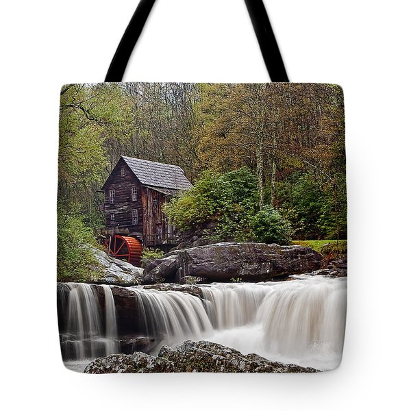 Glade Creek waterfall Tote Bag by Marcia Colelli