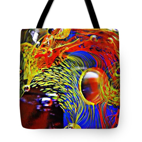 Glass Abstract 630 Tote Bag by Sarah Loft