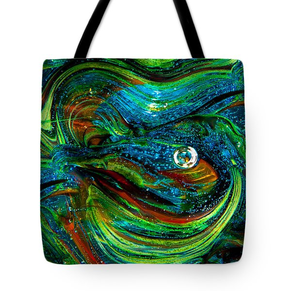 Glass Macro Abstract 13e7a Tote Bag by David Patterson