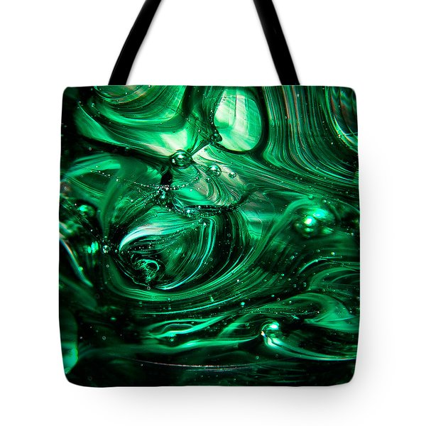 Glass Macro Abstract Egw2 Tote Bag by David Patterson