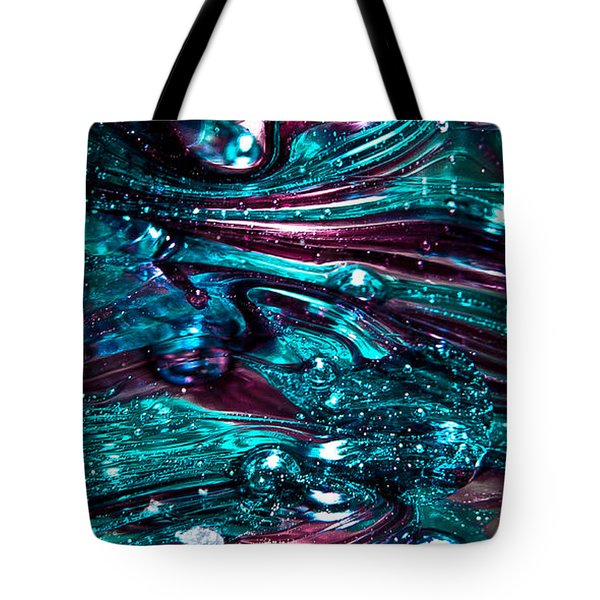 Glass Macro Abstract RB3 Tote Bag by David Patterson