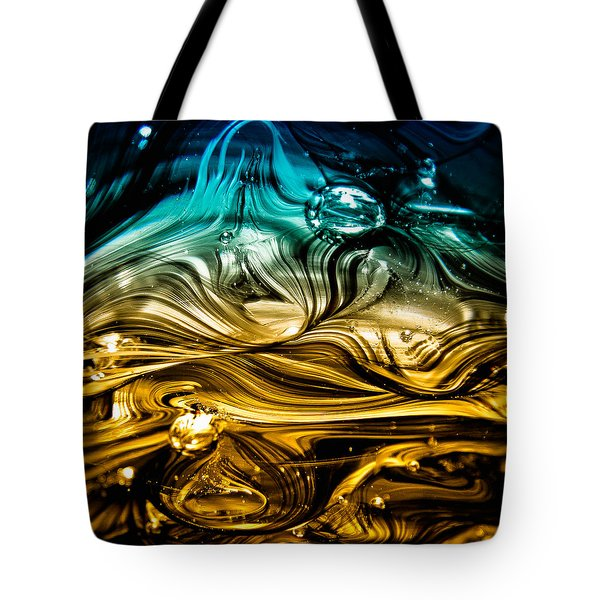 Glass Macro Abstract RBWCE Tote Bag by David Patterson
