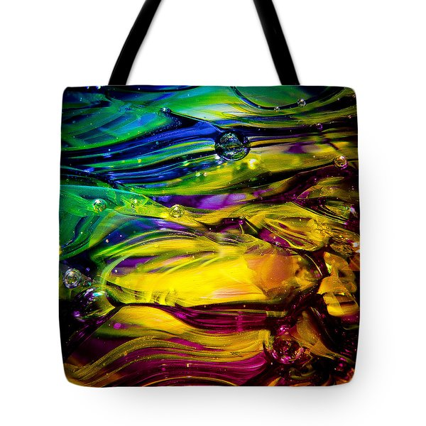 Glass Macro Abstract RCY1 Tote Bag by David Patterson