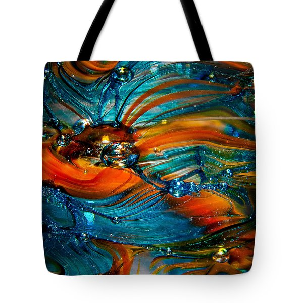 Glass Macro Abstract Rto Tote Bag by David Patterson
