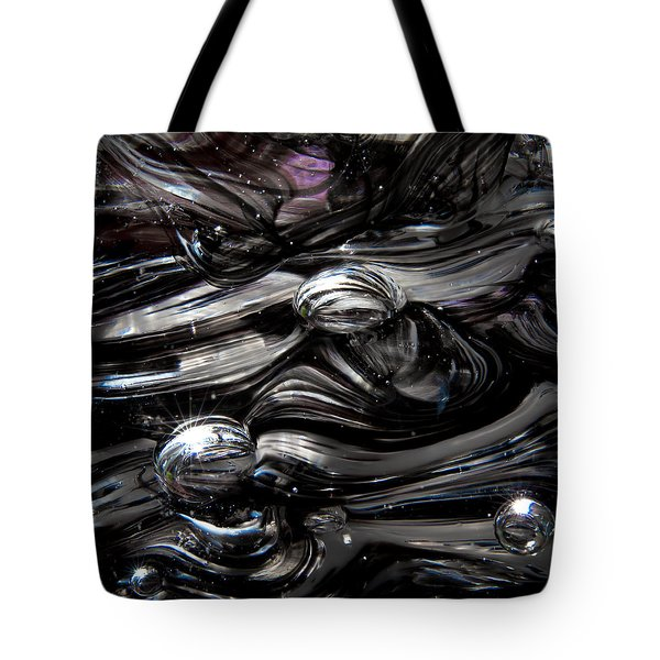 Glass Macro - Black And White II Tote Bag by David Patterson