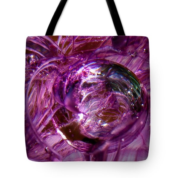 Glass Macro - Deep Pinks II Tote Bag by David Patterson