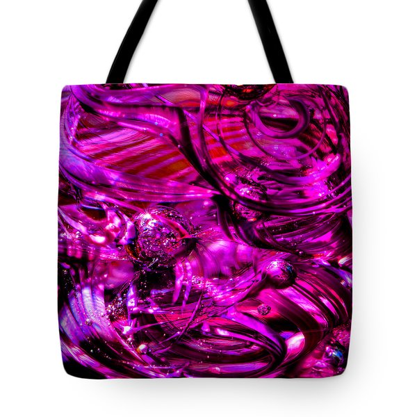 Glass Macro - Hot Pinks Tote Bag by David Patterson
