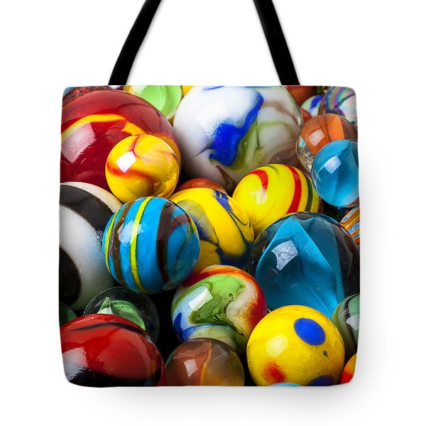 Glass marbles Tote Bag by Garry Gay