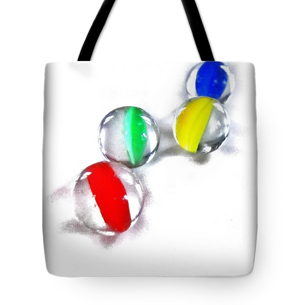 Glass Marbles Tote Bag by Marianna Mills