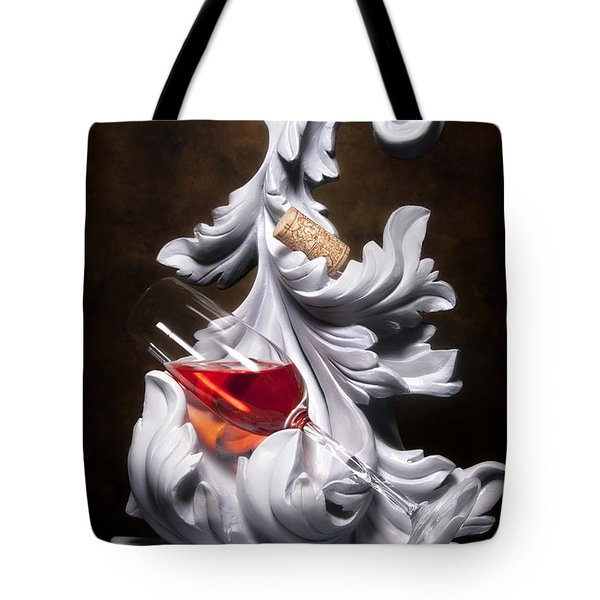 Glass Of Wine With Cork Still Life Tote Bag by Tom Mc Nemar