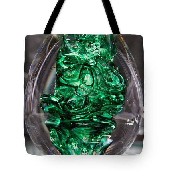 Glass Sculpture Egw  Tote Bag by David Patterson